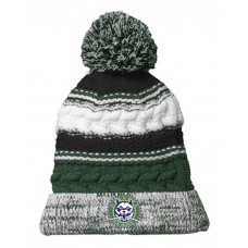 Ice Dogs Striped Beanie